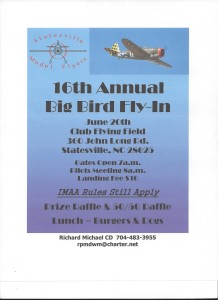 Statesville Model Flyers, Big Bird 2015