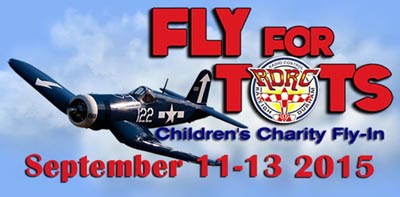 Fly For Tots  September 11-13, 2015