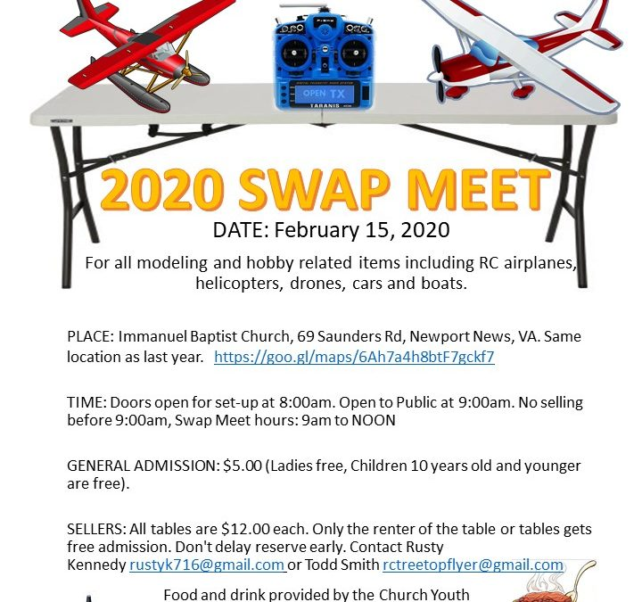Newport News Park RC club Swap Meet